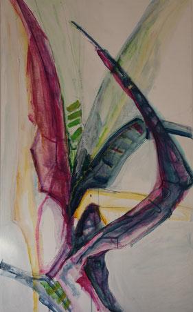 Jucca 2, Acryl auf Leinwand, 90cm x 175cm, 2012