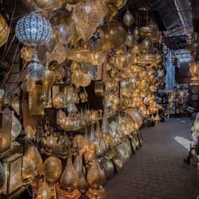 Lanterne nel Souk di Marrakech