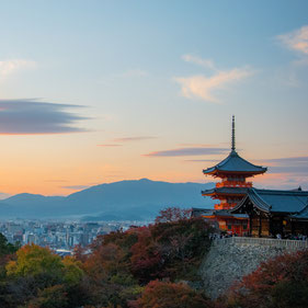 Tramonto dal Kiyomizu-dera
