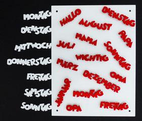 Schriftzug Magnete