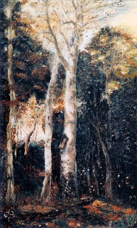 Primera obra de Juan Antonio Lledó Bernabé, en honor al maestro francés Jean-Baptiste-Camille Corot (El Parque de los Leones en Port-Marly, 1872)