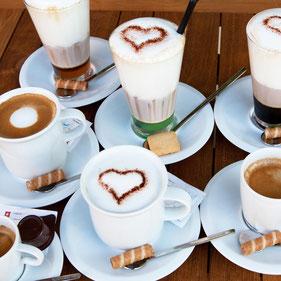 Kleines Café-Sortiment