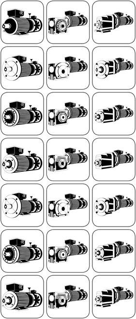 Bremsmotor Bremsgetriebemotor Schneckengetriebe Stirnradgetriebe