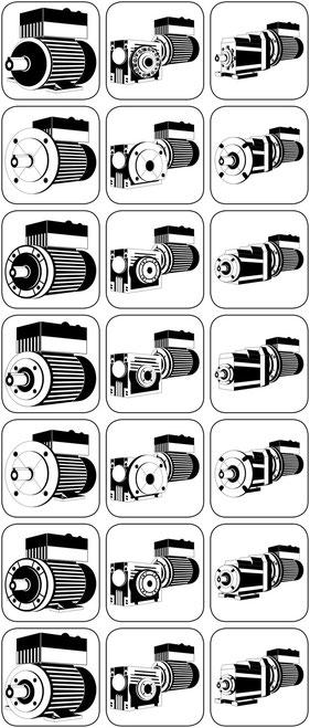 Integralmotor mit aufgebautem Frequenzumrichter, Schneckengetriebeintegralmotor Stirnradgetriebeintegralmotor