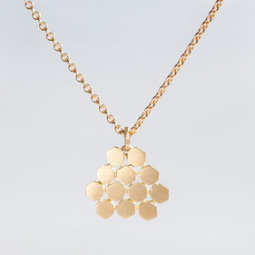 Kette, Goldkette, Poygon, Contemporary Jewellery