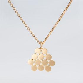 Kette, Goldkette, Poygon, Contemporary Jewellery