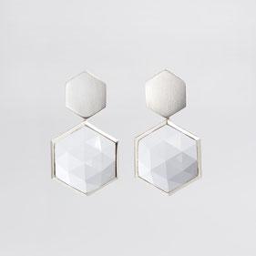 Ohrringe, Edelsteine, Unikatschmuck, Polygon, Jewellery