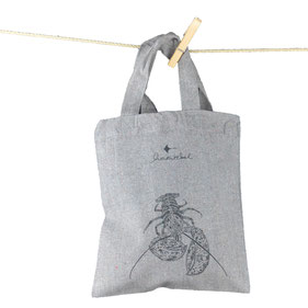 honourebel common dolphin recycled small carrier bag