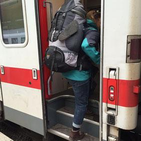 Der erste Zug auf meiner Reise geht in Richtung Mainz