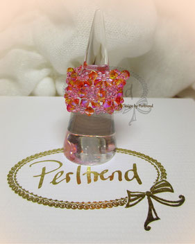 Fingerschmuck Fingerring Ring Belles petites fleurs Swarovski Crystals www.perltrend.com