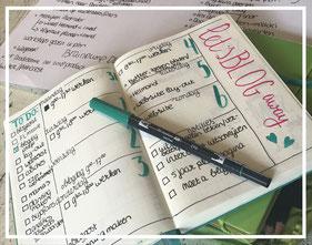 Planning en bullet journaling