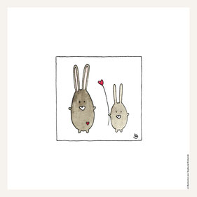 Poster 30x30 cm, Hasenliebe
