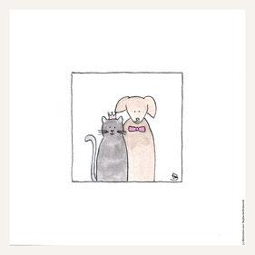 Poster 30x30 cm, Hund' & Katz'