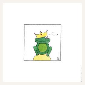 Poster 30x30 cm, Froschkönig