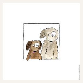 Poster 30x30 cm, Hundepaar