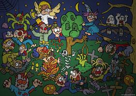 Van Bun Communicatie & Vormgeving - Internetgazet Lommel - Illustraties - Tekeningen - Grafisch ontwerp - Publiciteit - Reclame - Halloweentochten