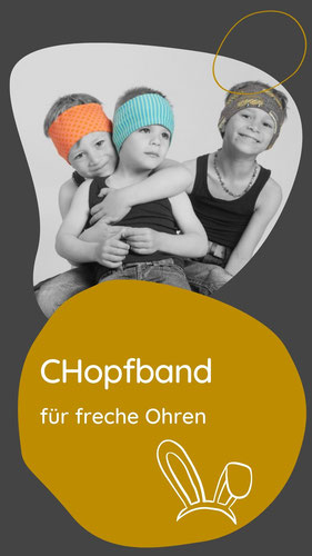 Ein Stirnband mit zwei Seiten. Lustig und frech für die Kleinen und Grossen. Praktisch für Helmträger beim Skifahren oder auf dem Velo.