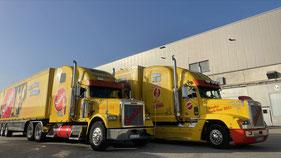 Abbiegeassistent an jedem Fahrzeug nachrüstbar! US-Truck mit Wüllhorst Abbiegeassistent 4.0