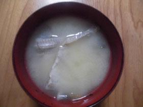 完成した中落ちのお味噌汁