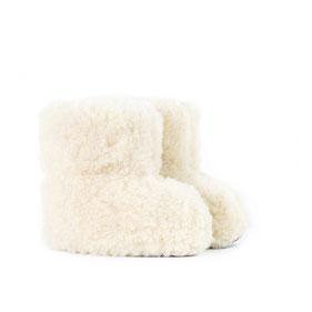 Chaussons en laine blanche naturelle doux ne gratte pas pointure enfant souple fille garçon 22-23-24-25-26-27-28-29-30-31-32-33-34-only-mouton