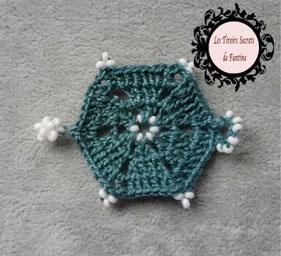 modèle Abéline, maillon debijou à créer hexagonal au crochet