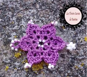 modèle Carméline, maillon de bijou à créer fleur au crochet