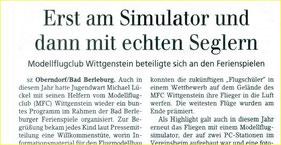 Siegener Zeitung vom 16.07.2015