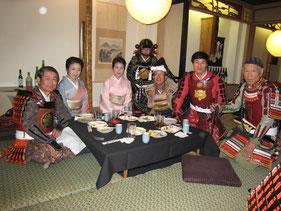 パレード終了後の日本食レストランで