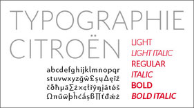 Typographie Citroën