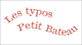 Typographie Petit Bateau