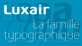 Typographie Luxair