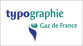 Typographie Gaz de France