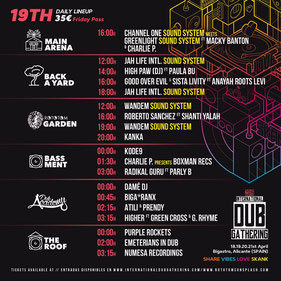 line up international dub gathering