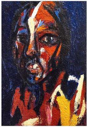 L'écorché - 2020 - 97/130 cm - Acrylique/toile