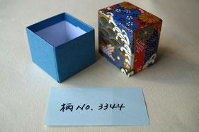 千代紙と和紙を使用して手加工で作製の貼箱小箱