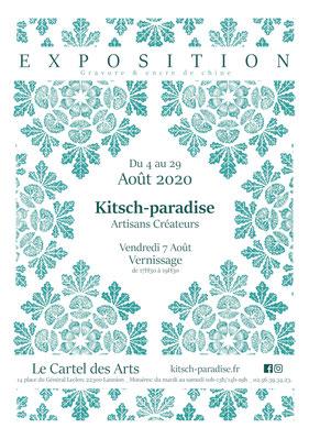 kitsc-paradise kp exposition encre de chine gravure affiche