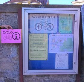 Panneau d'accueil Cyclo-Touristique, avenue du Lieutenant-colonel Chavane, face à l'abribus (c) Municipalité de LVLB