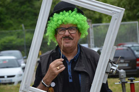 Schützenmeister Claude im Clownskostüm