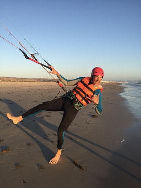 Waterstart kitesurfing in Tarifa
