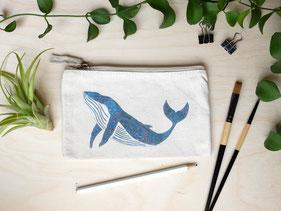 Täschchen Wal Michael Clarke Art
