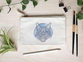 Täschchen Wolf Geometrie Michael Clarke Art
