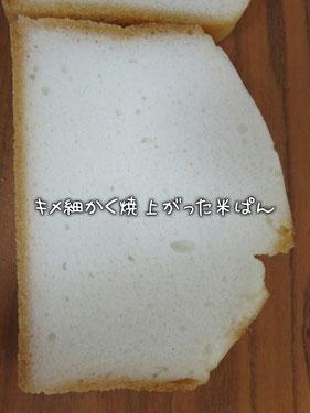 グルテンフリー米ぱん キメ細かい
