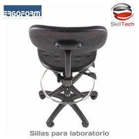 Sillas para laboratorio, muebles para laboratorio, sillas industriales