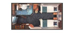 Mid-Ship Inside Cabin Diagram