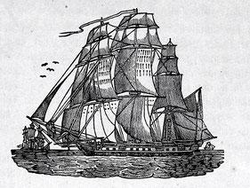 von Le Havre bis Philadelphia oder New York mit dem Segelschiff