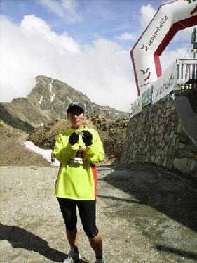 Beim Graubünden Marathon.