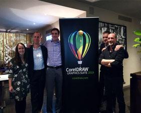 Marzo 2019 - Presentazione Versione 2019, festeggio 30 anni di utlizzo di CorelDRAW alla presenza della delegazione canadese Corel