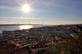 Lissabon Blick vom Castelo Sao Jorge