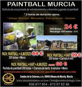 partida de paintball en Murcia