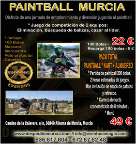 partida de paintball en Murcia